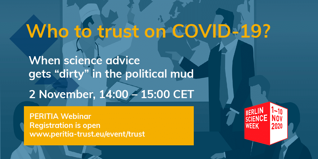 Who to trust on Covid-19? A PERITIA webinar at the Berlin Science Week