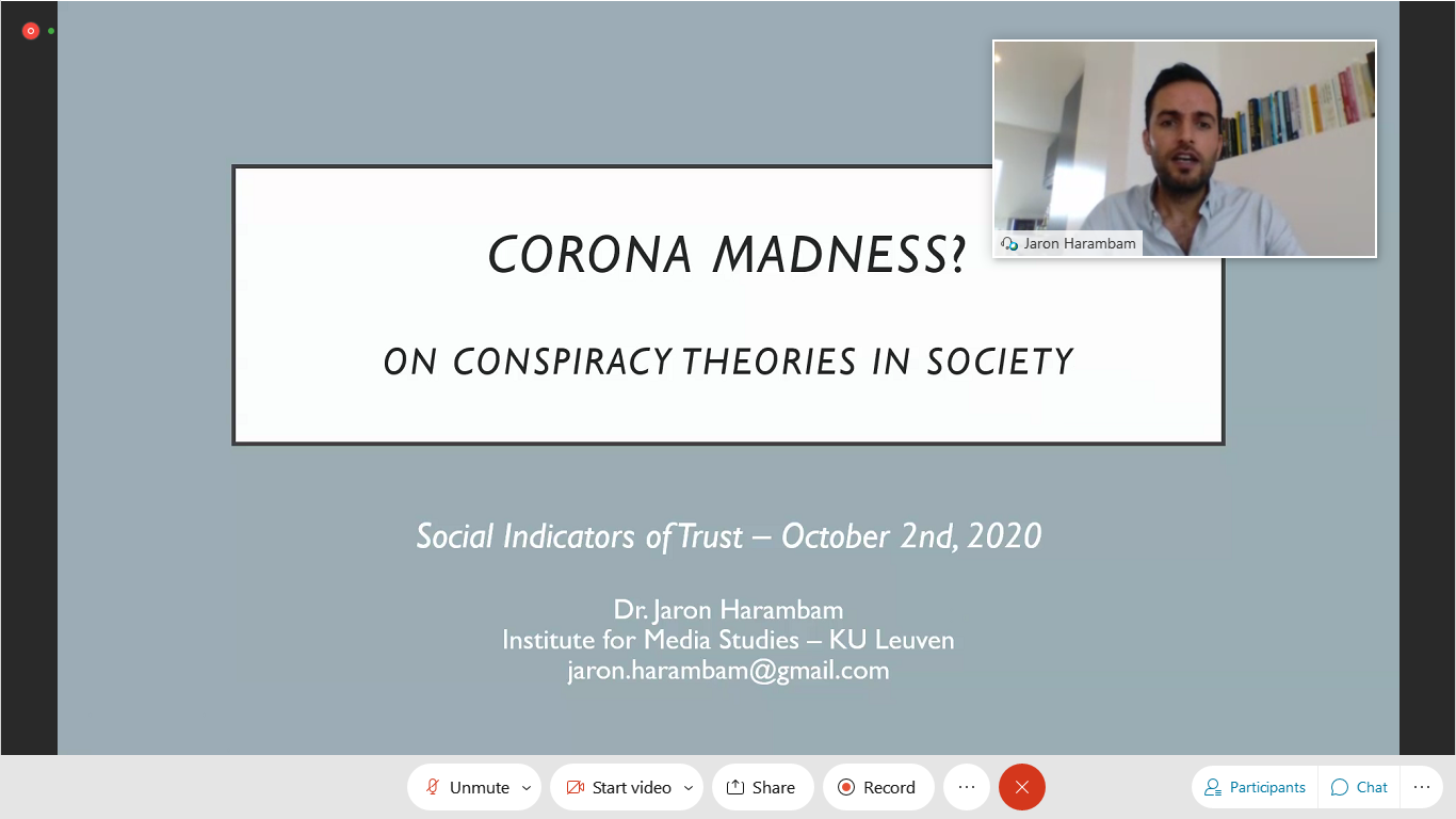 PERITIA holds workshop on Social Indicators of Trust. Watch Online!