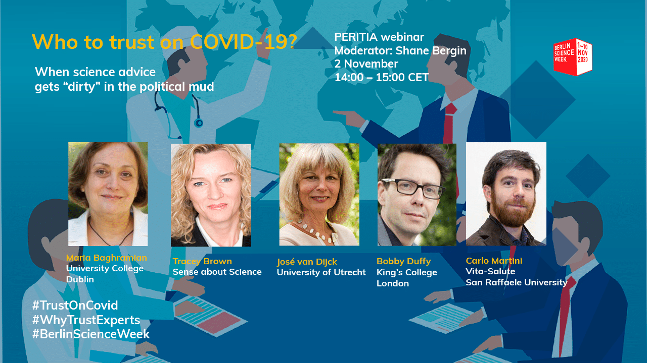 PERITIA Webinar 'Who to trust on Covid-19?' at the Berlin Science Week