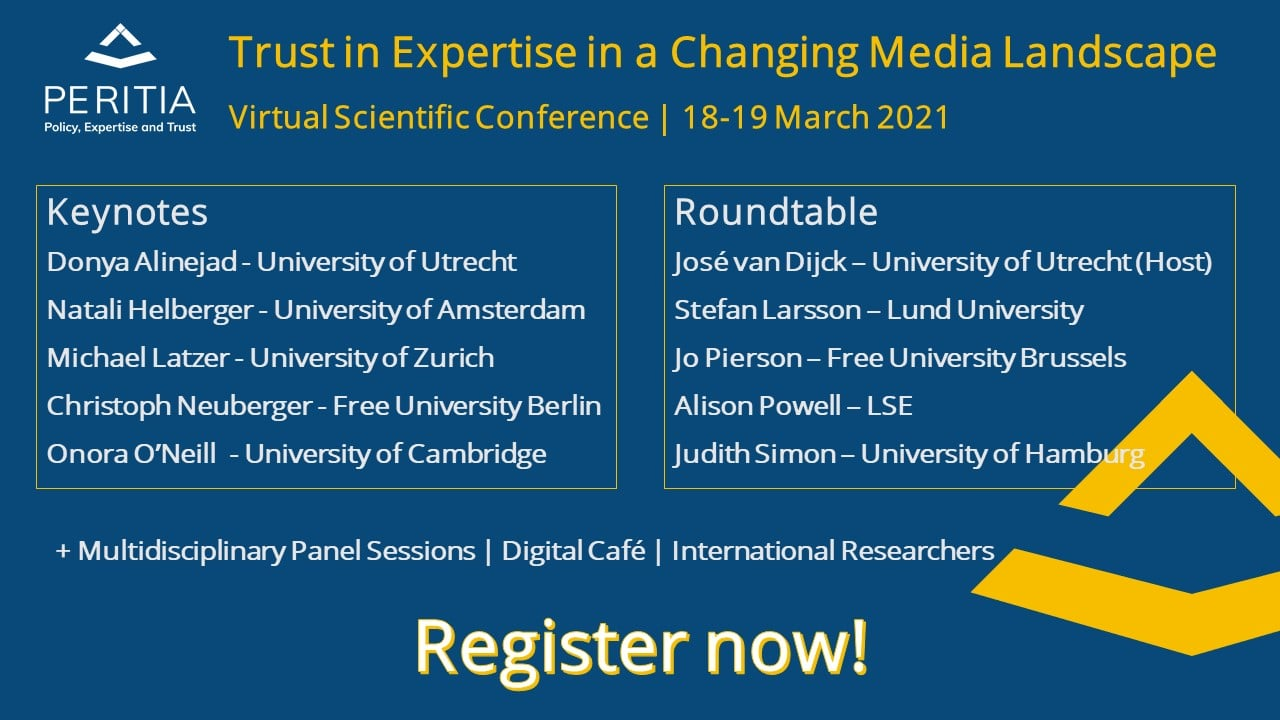 PERITIA Conference on Trust, Expertise, and Media